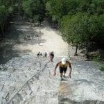 Besteigung der Mayapyramide Cobá in Mexiko