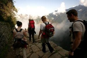 Wanderer auf dem Inka-Trail in Peru