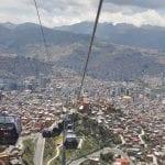 Blick aus der Gondel auf La Paz