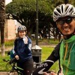 Hector Vargas, eBike-Guide Bolivien, und Kathrin von Schiller..