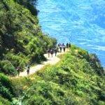 Choquequirao Trek - Wanderpfad entlang einer Felskulisse