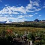 Blick auf die Landschaft und den Vulkan Cotopaxi in Ecuador