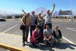 Ankunft an Flughafen in Arequipa
