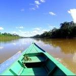 Boot auf dem Amazonas Fluss
