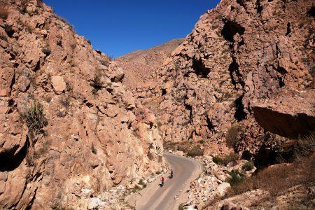 Fahrt durch tolle Schluchten Richtung Huanca