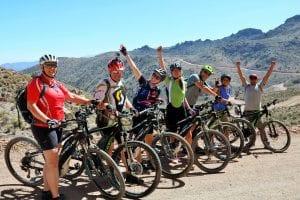 Unsere Radgruppe in der Umgebung von Arequipa