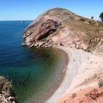 Einsame Bade - Bucht am Titicacasee