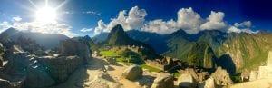 Panaramabild von der gesamten Machu Picchu Anlage
