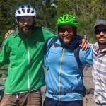 Vicente Fernández aus Chile mit anderen Fahrrad-Guides.
