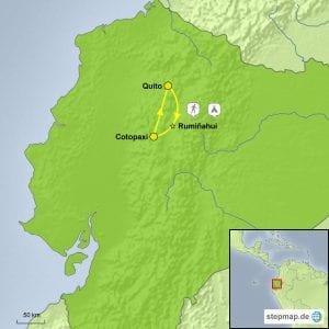 Landkarte Baustein Trekking Cotopaxi