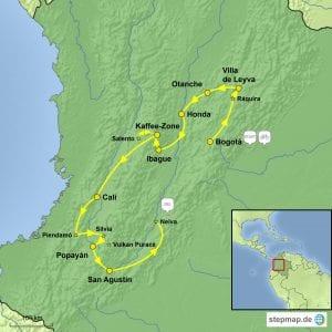 Stepmap Kolumbien eBike