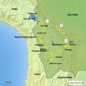 Stepmap eBike Bolivien