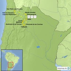stepmap eBike Tour Argentinien Chile