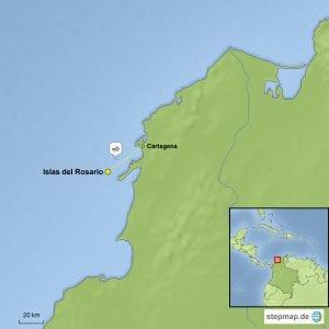Landkarte Baustein Islas del Rosario